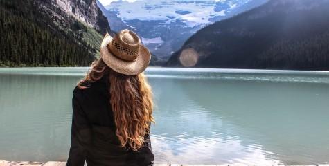 Candice at Lake Louise